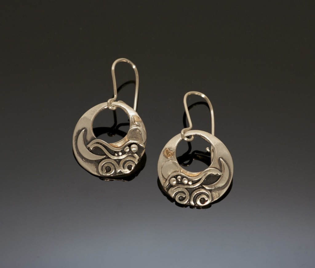 Silver-Gold-earrings-E86-2