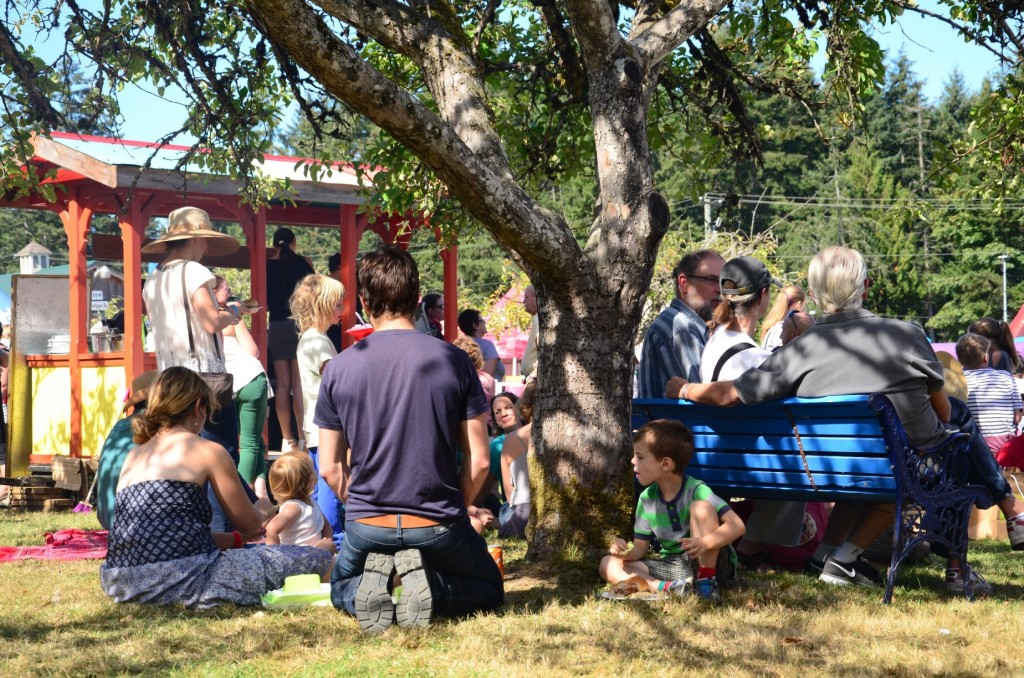 Enjoying the shade at the 2014 Salt Spring Island Fall Fair