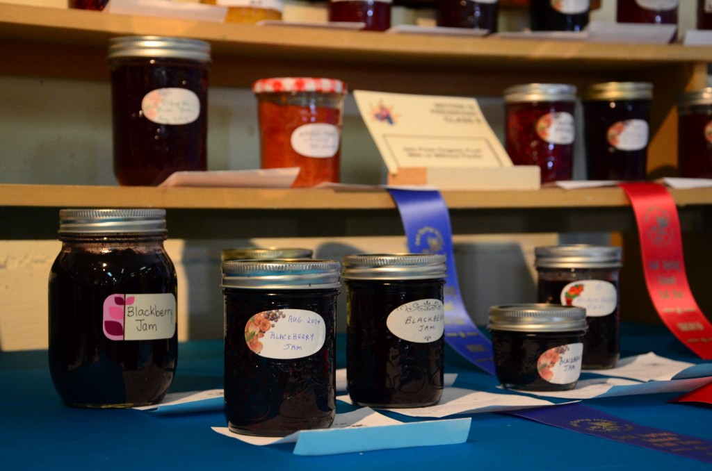 Jam Display at the 2014 Salt Spring Island Fall Fair