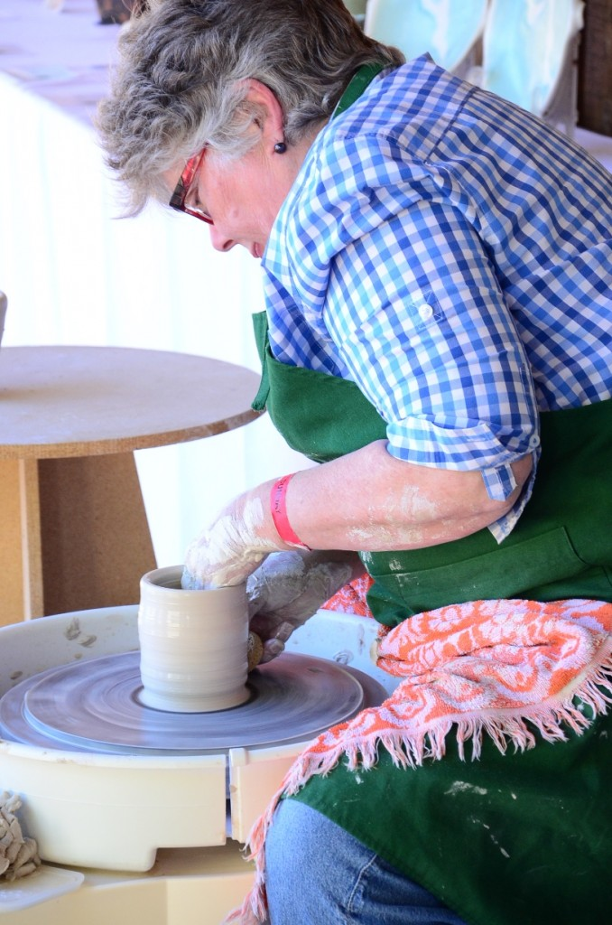 Pottery Demonstration at the 2014 Salt Spring Island Fall Fair