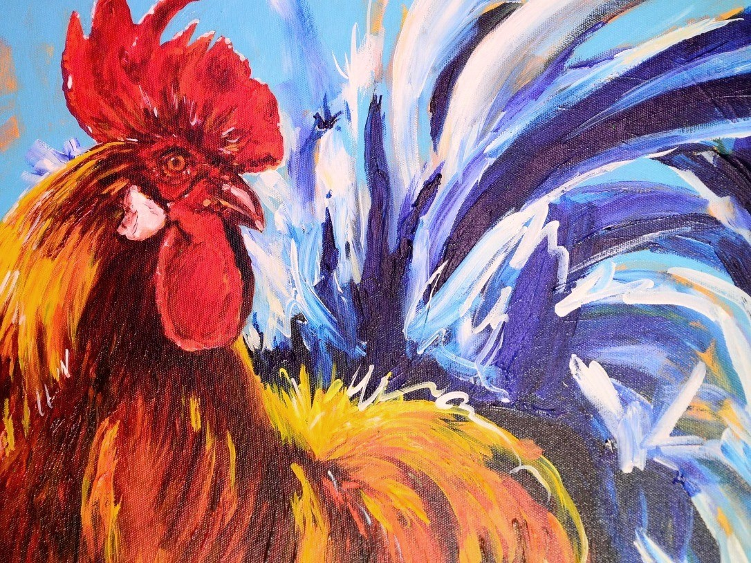 Chicken painting at the 2014 Salt Spring Island Fall Fair