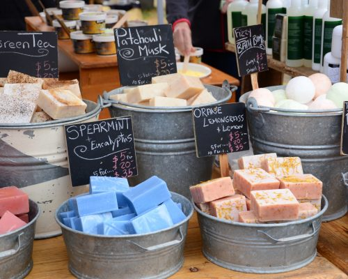May 2014: Saltspring Soapworks at the Saturday Market