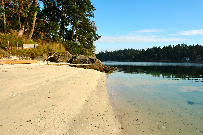 Beach at Spindrift Cottage Resort Salt Spring Island